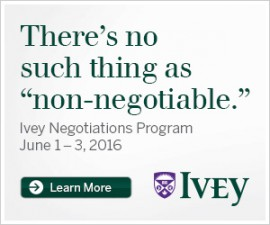 Ivey Negotiations Program