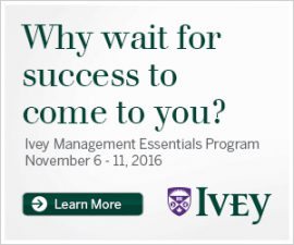Ivey Management Essentials Program Starts November 6